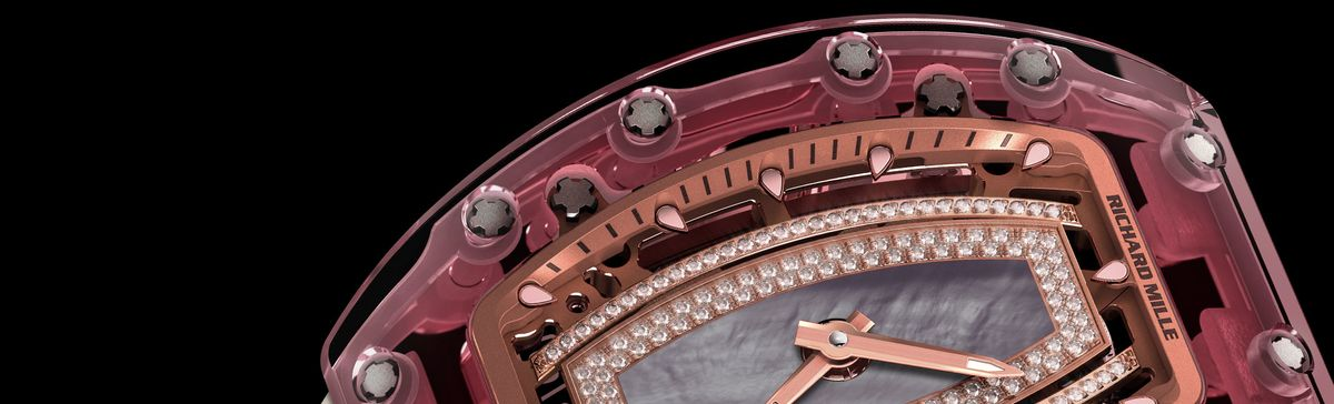 This $980,000 Richard Mille Watch Is Carved From Pink Sapphire