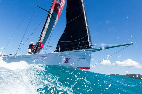 Sandy Oatley's Wild Oats X, skippered by Mark Richards, during training for the Audi Hamilton Island Race Week.