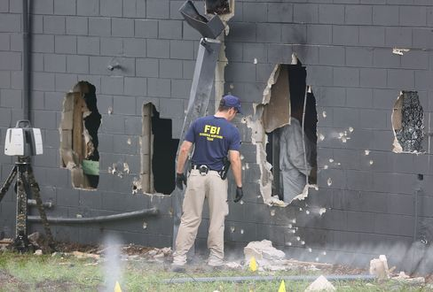 Damages outside the Pulse Nightclub on June 12.