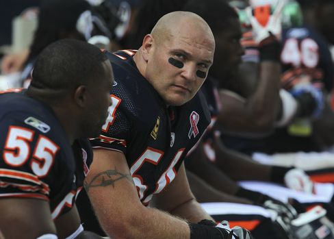 Brian Urlacher #54 of the Chicago Bears