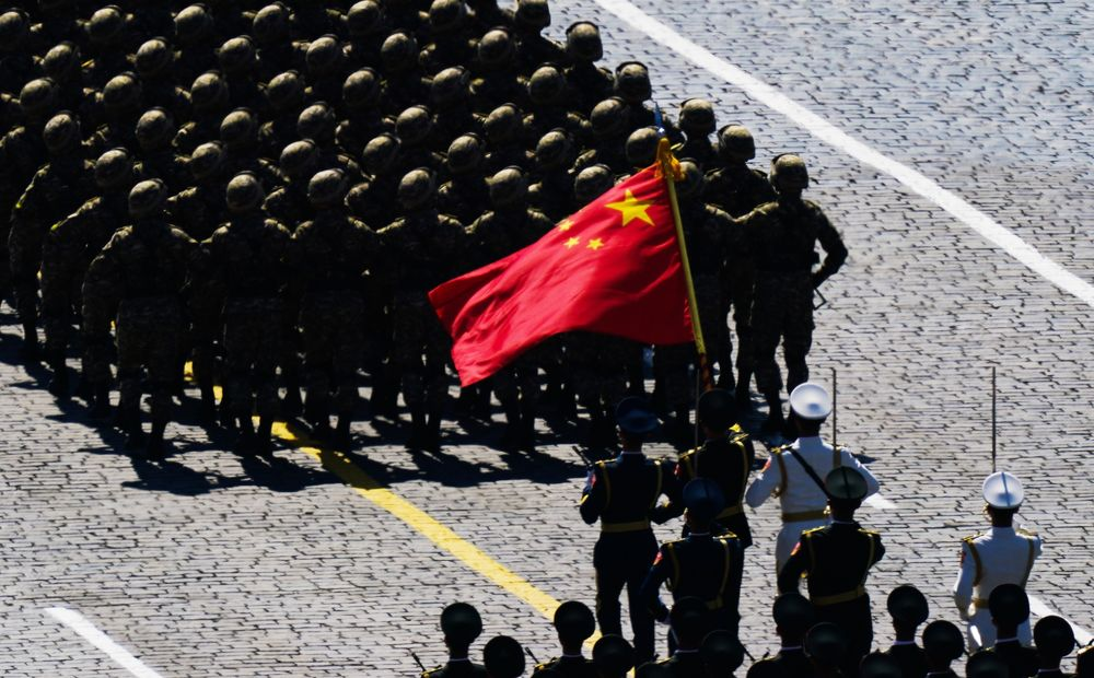 Chinese soldiers march during the Victory Day military parade in Red Square marking the 75th anniversary of the victory in World War II, in Moscow, on June 24. Photographer: Handout/Getty Images Europe