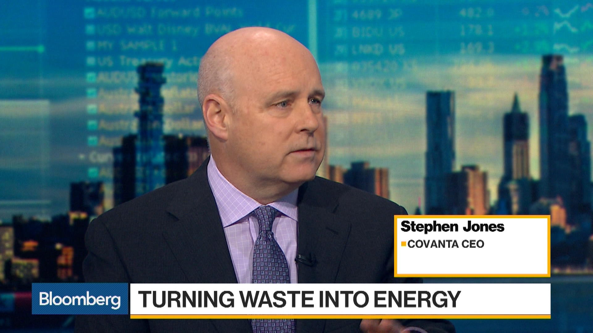 Covanta CEO on Green Solutions for Managing Waste – Bloomberg
