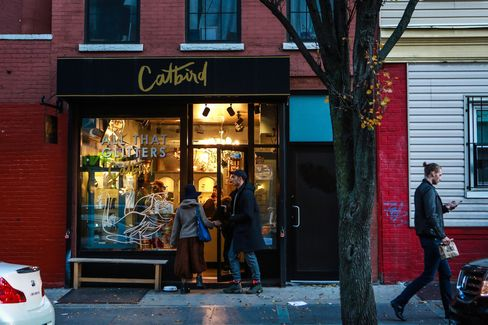The front of the Catbird jewelry boutique in Brooklyn, New York.