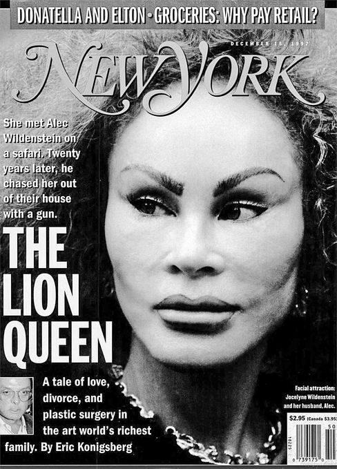 Jocelyn on the cover of New York magazine in 1997