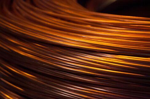 Spools of Copper Wire Sit in Hamburg
