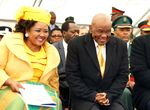 Thabane and his wife Maesiah at the his inauguration on June 16, 2017, in Maseru.