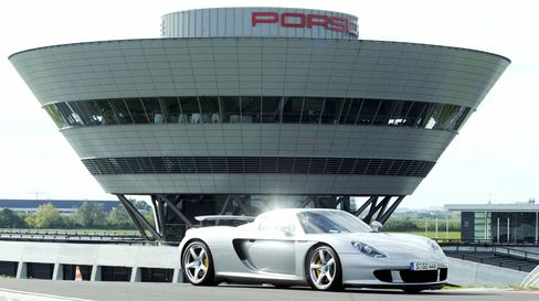 Even recent Porsche models - if they're special like this Porsche Carrera GT - are popular on the auction block and have seen massive value gains in the last few years.