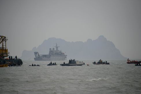 Dive boats in Jindo