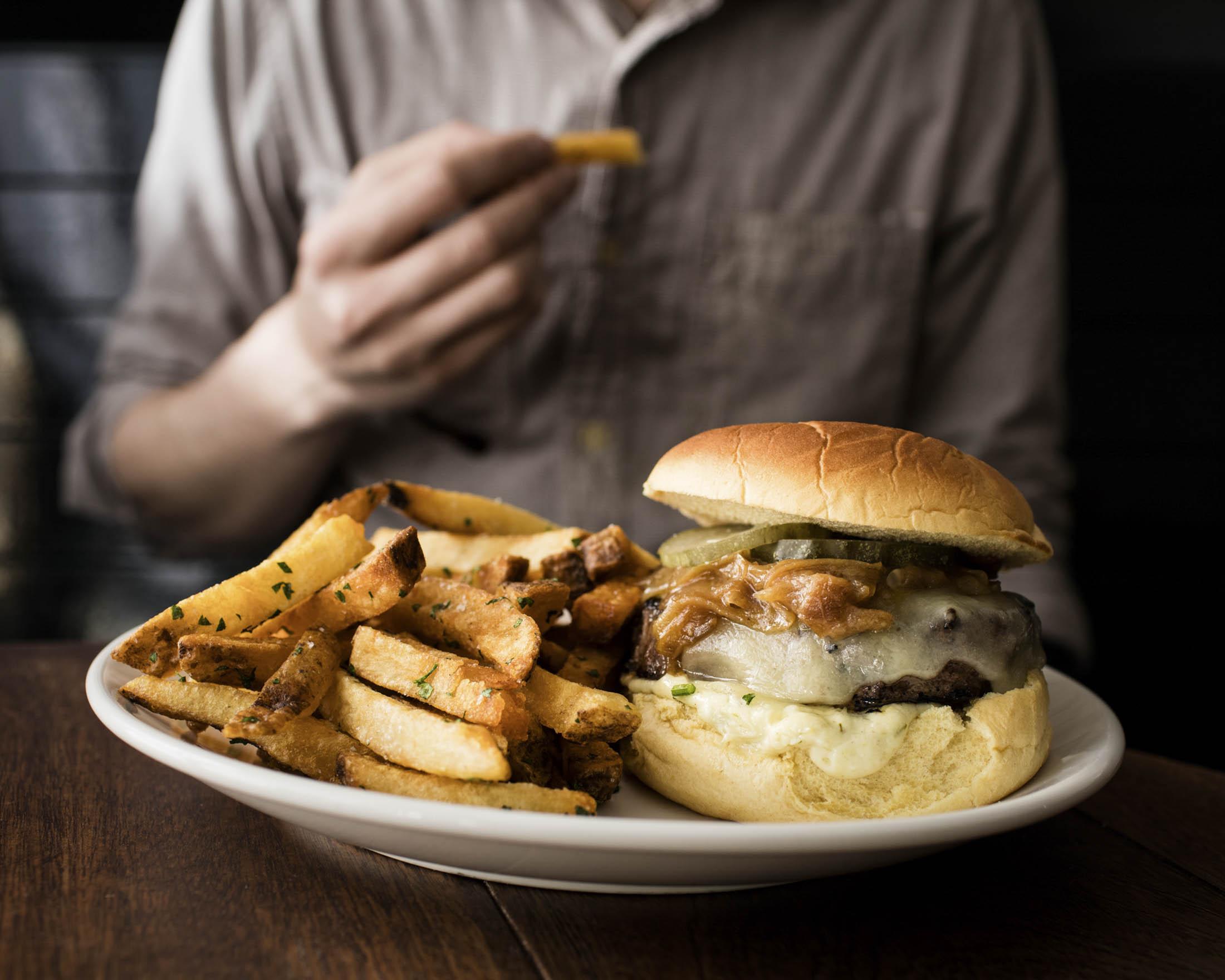 Pan-Seared Burger at GG's