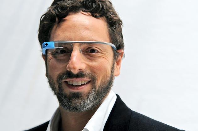 Sergey Brin Wearing Google Glass