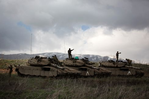 Israeli Soldiers in the Golan Heights