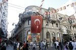 Pedestrians on Istiklal street in Istanbul on July 6.