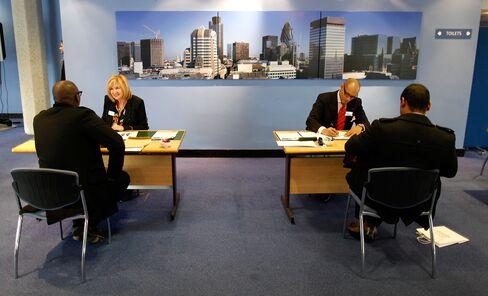 U.K. Unemployment Falls as London Olympics Boost Hiring