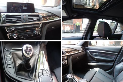 The interior of the 340i is minimal but well done.