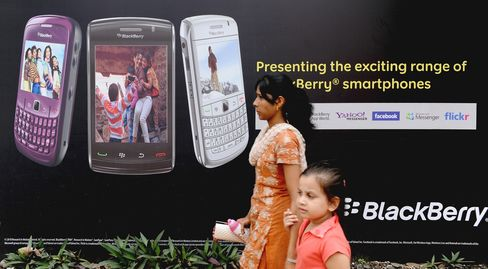 RIM averted a ban on BlackBerry Services in India