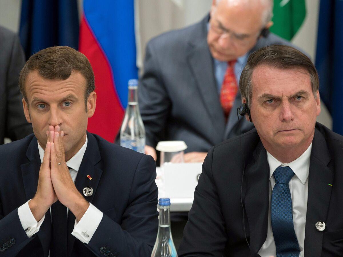 Macron Riles Bolsonaro, Setting Up G-7 Fight Over Amazon Fires
