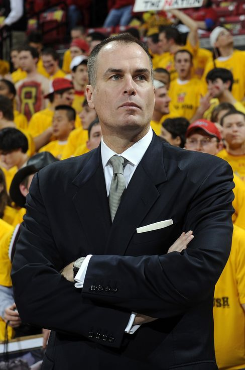 Jay Bilas reports during the game between the Maryland Terrapins and the Duke Blue Devils at the Comcast Center on March 3, 2010, in College Park, Maryland.