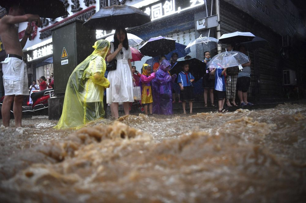 CHINA CHINESE HUNAN XIANGXI RAINSTORM FLOOD DISASTER