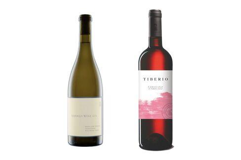 "2014 Enfield ""Heron Lake"" Chardonnay and2015 CerasuoloTiberioAbruzzo."