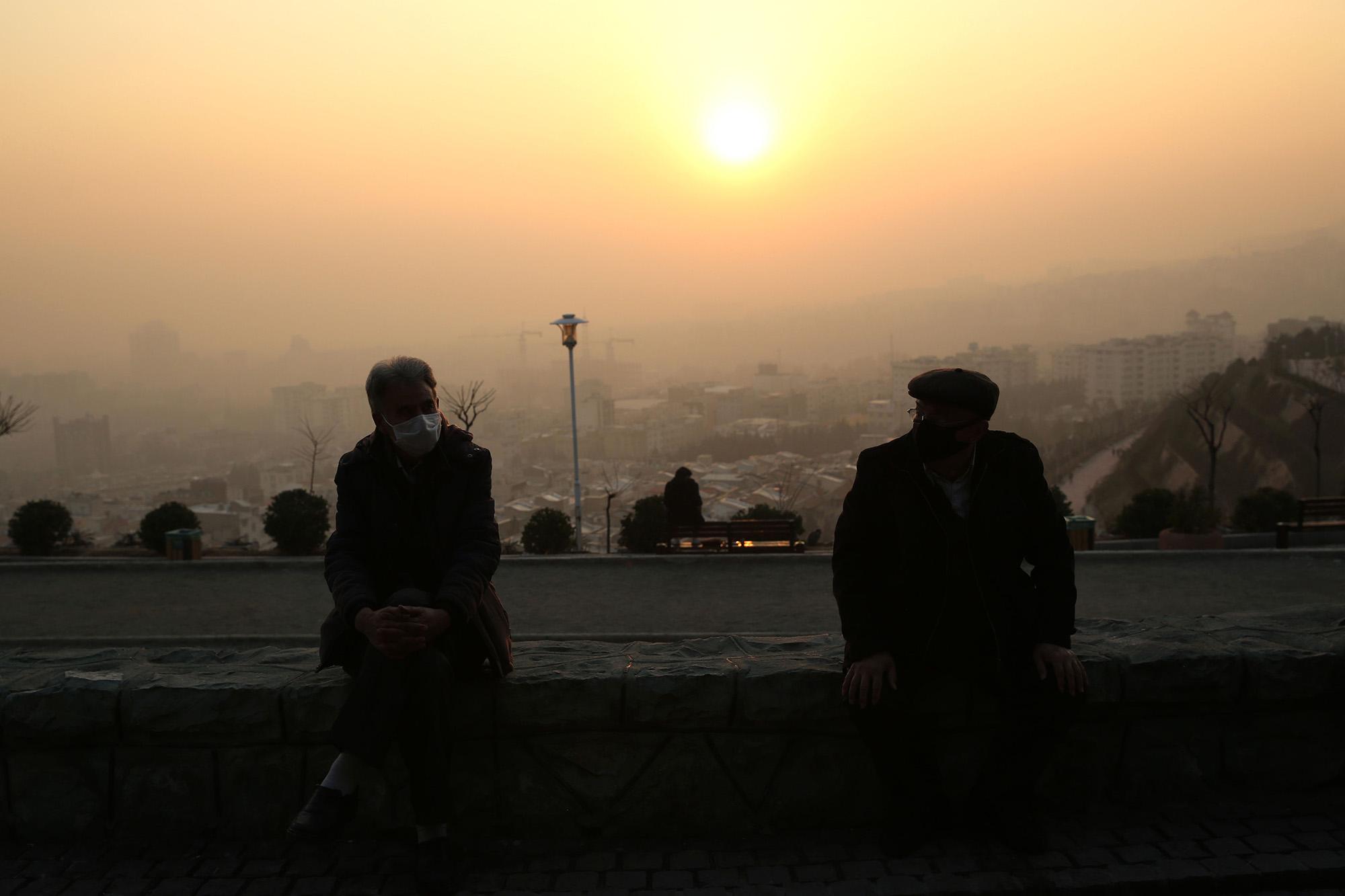 Smog in Tehran on Jan. 13.