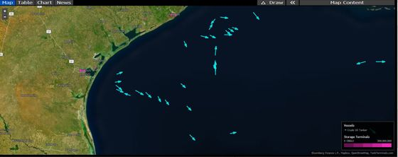 Tankers Flee Deeper Into Gulf as Nicholas Heads for Texas Ports