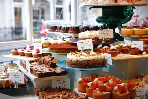 Similar to these at Ottolenghi's Belgravialocation, there will be cakes aplenty (and salads, too).