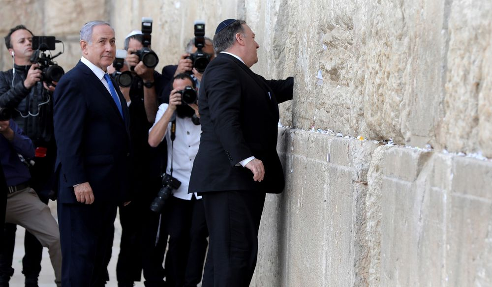 Pompeo at Western Wall With Netanyahu Likely to Stir Arab Anger