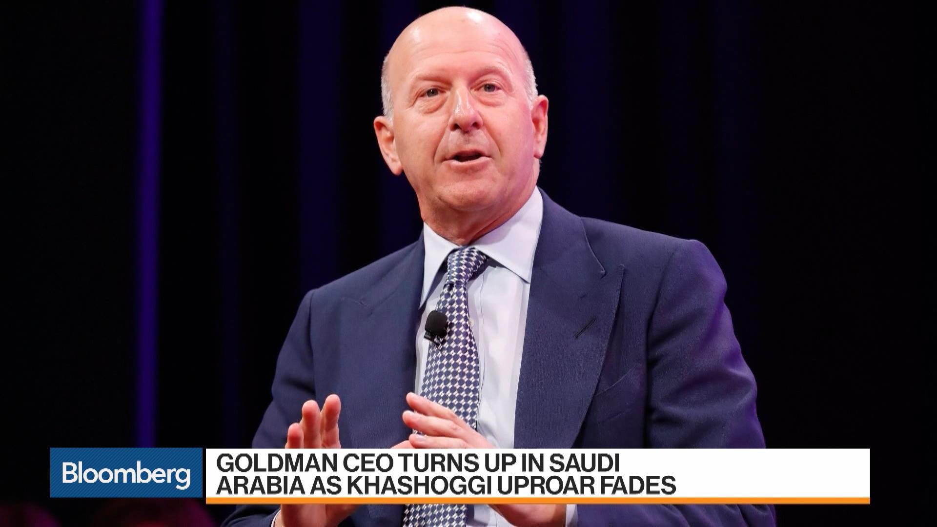 Goldman CEO Turns Up in Saudi Arabia as Khashoggi Uproar Fades