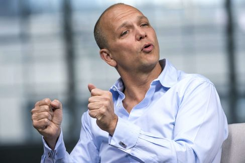 Tony Fadell, founder and chief executive officer of Nest Labs, speaks during a Bloomberg Studio 1.0 interview in San Francisco.