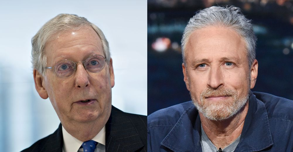 Jon Stewart Keeps Up Pressure on McConnell Over 9/11 Responders' Fund