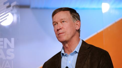 John Hickenlooper, governor of Colorado, speaks during the Aspen Ideas Festival in Aspen, Colorado, U.S., on Tuesday, July 1, 2014.