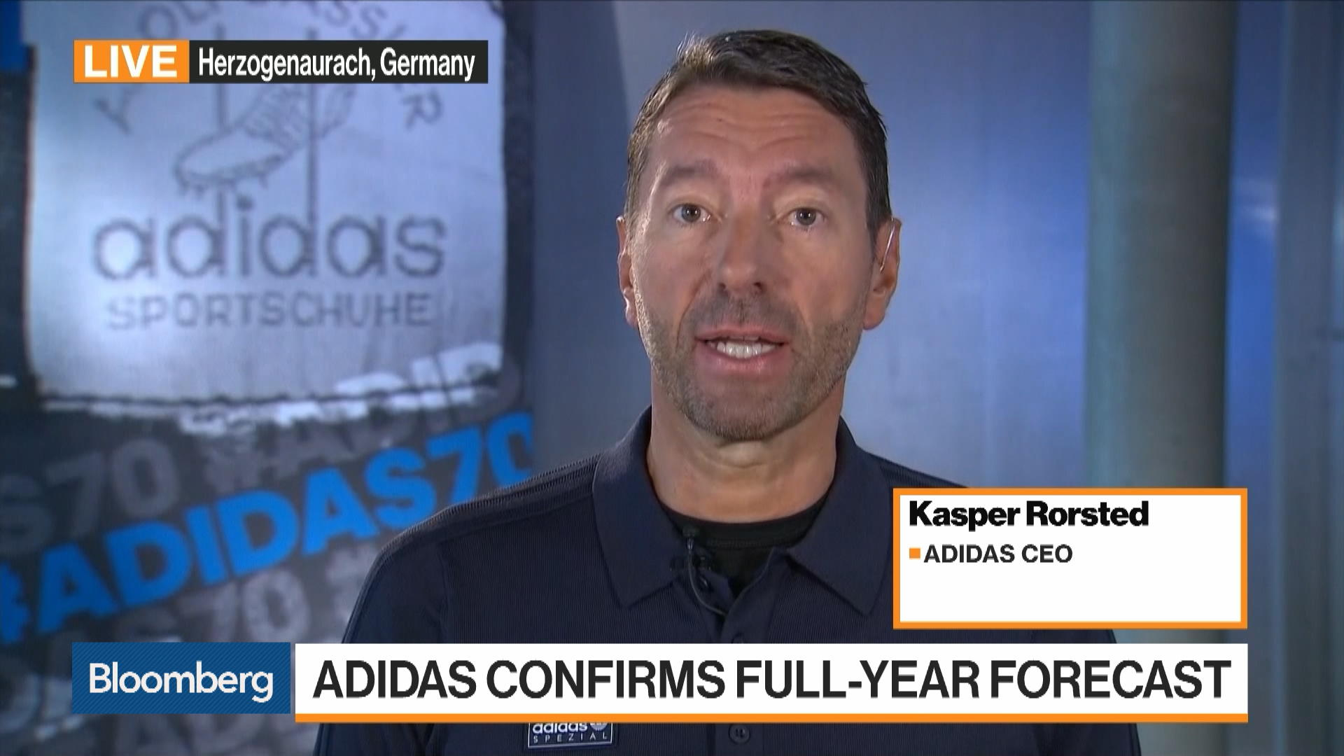 aire Metropolitano Sermón  SEO headline: Kasper Rorsted, CEO of Adidas, on China-U.S. Currency War,  Air Freight, Supply Chain - Bloomberg