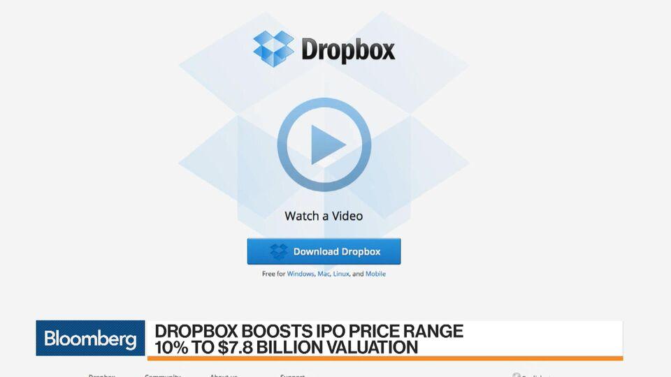 Dropbox Boosts Ipo Price Range 10 To 78 Billion Valuation Bloomberg