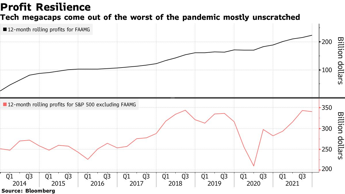Tech megacaps come out of the worst of the pandemic mostly unscratched