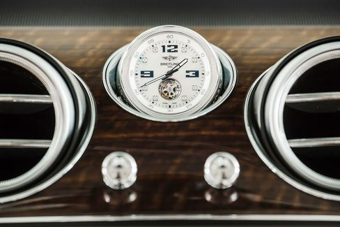 Dark, rich wood tones are popular in luxury cars now, such as the brushed finish in the Bentley Bentayga.