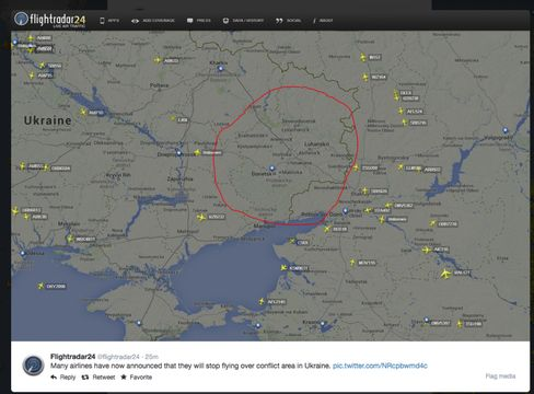 Planes quickly began avoiding airspace over Eastern Ukraine