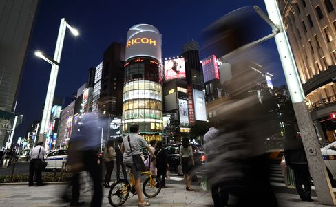 Shoppers in Ginza