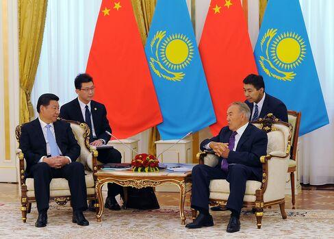 Presidents Xi And Nazarbayev
