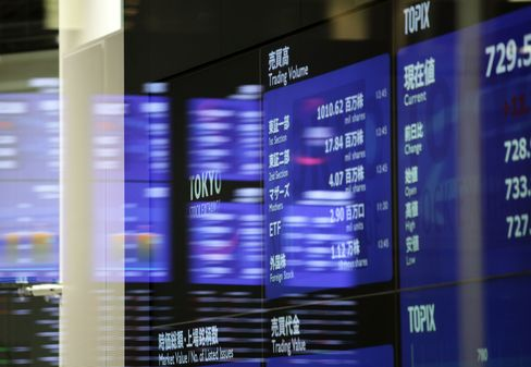 Japanese Stock Futures Drop on Spain Downgrade, Economic Data