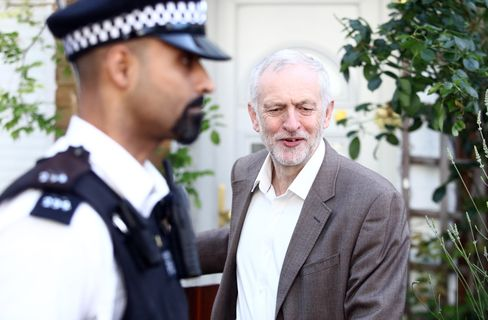 Jeremy Corbyn leaves his house in London on June 28.