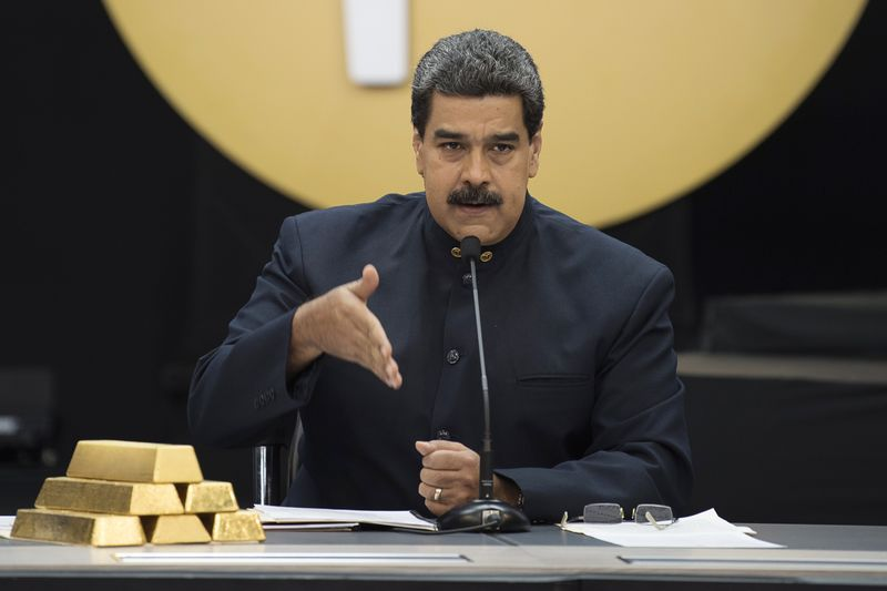 Nicolas Maduro speaks in Caracas on March 22, 2018.