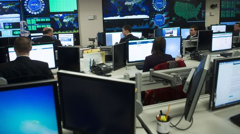 The National Cybersecurity and Communications Integration Center in Arlington, Virginia.