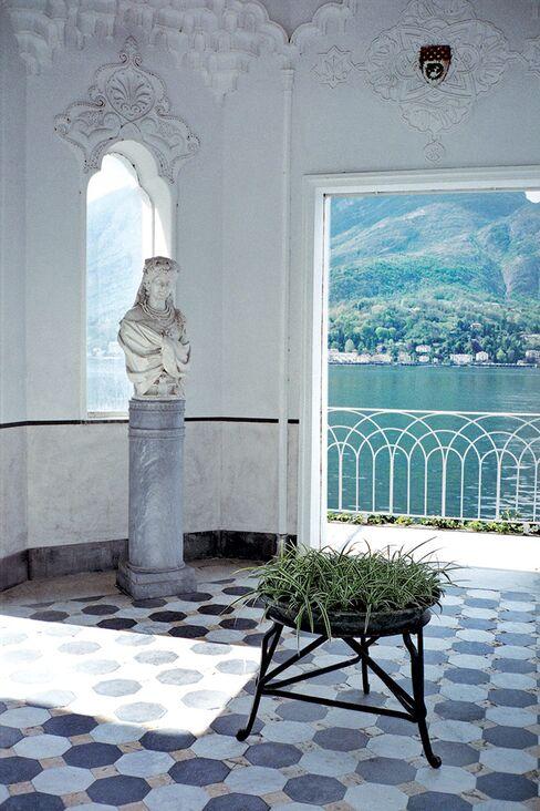 Inside one of Lake Como's villas.