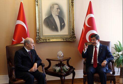 Ahmet Davutoglu and Devlet Bahceli