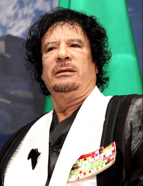 Libya's Leader Muammar Qaddafi