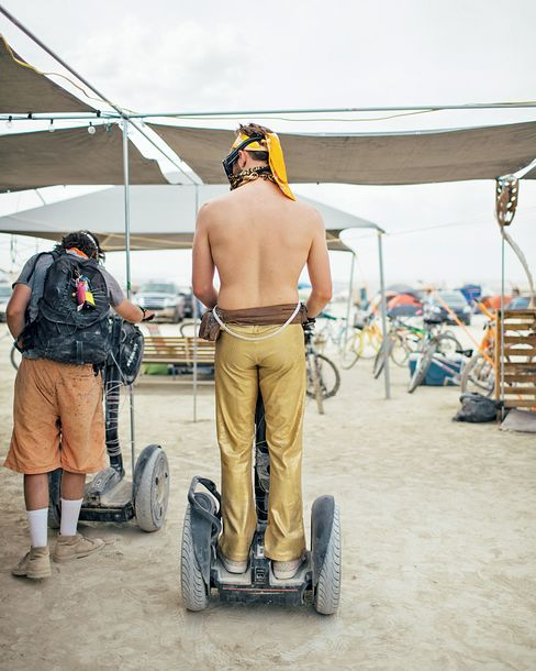 Use of a Segway was one of the perks for Camp Caravancicle guests.