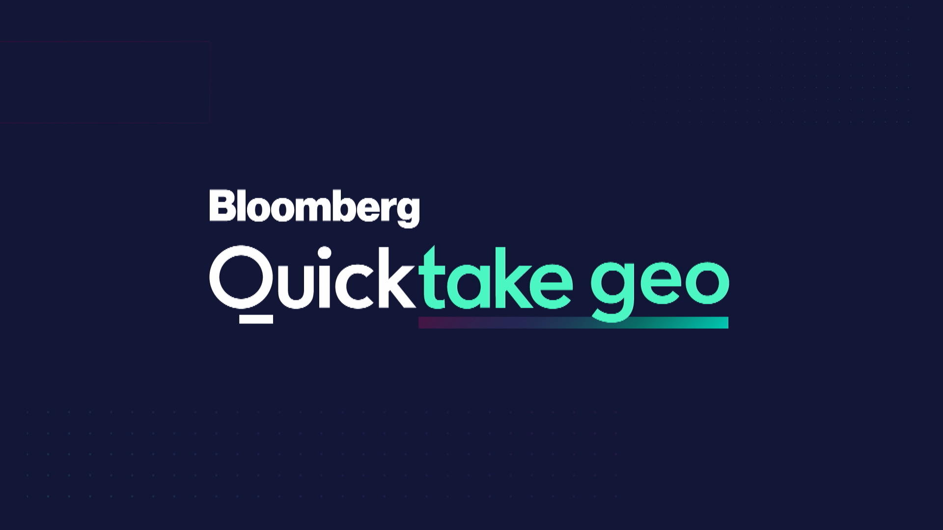"Bloomberg Quicktake ""Geo"" (04/16/2021)"