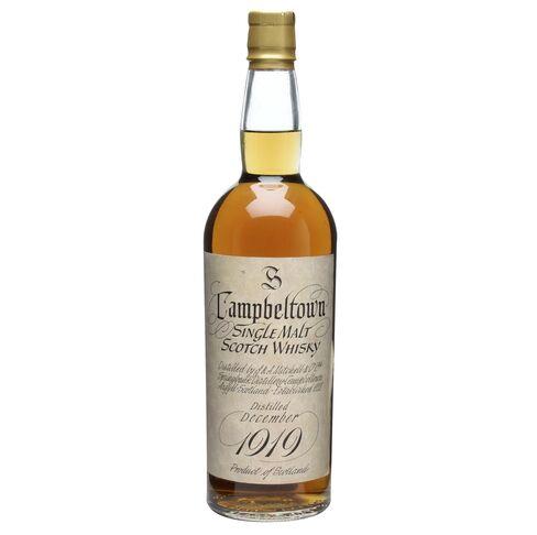 Bottle of Springbank 1919 whisky
