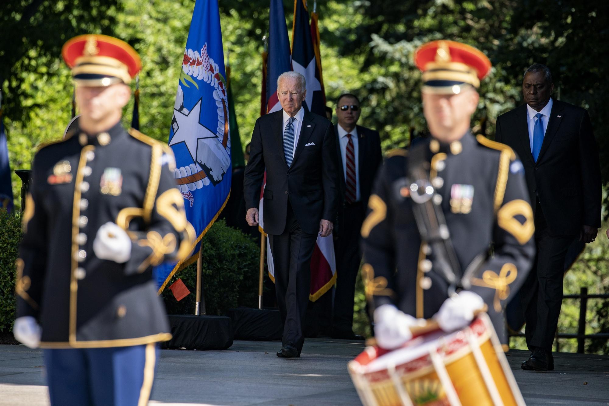 President Biden Visits Arlington National Cemetery