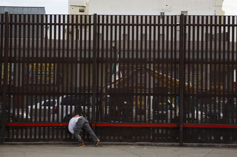The U.S./Mexico border in Calexico